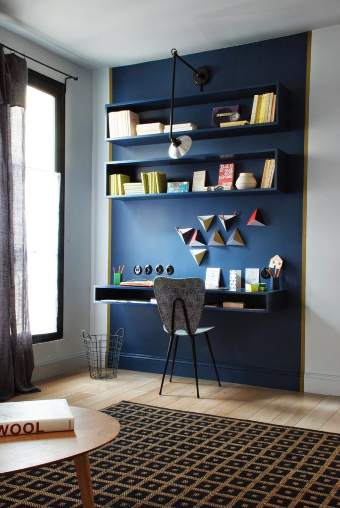 donkerblauw interieur decoratie