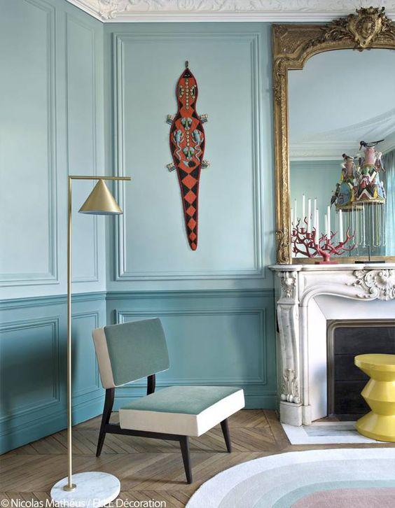 blauw tijdloze kleur woonkamer blauw muren