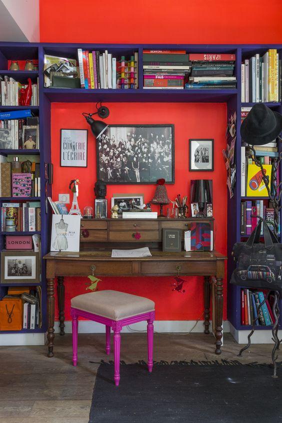 Crown kleurenwaaier - Rood en Roze - Painttrade